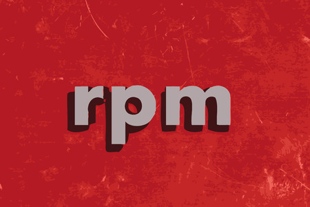 rpm: rpm vector word on red concrete wall Illustration