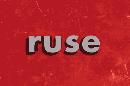 ruse: ruse vector word on red concrete wall Illustration