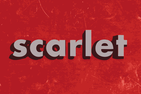 scarlet: scarlet vector word on red concrete wall Illustration