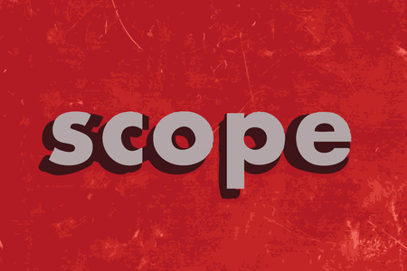 Scope: scope vector word on red concrete wall Illustration