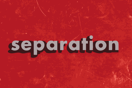 separation: separation vector word on red concrete wall