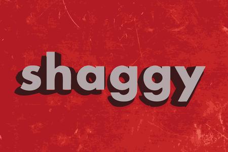 shaggy vector word on red concrete wall Illusztráció