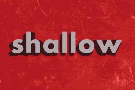 shallow: shallow vector word on red concrete wall