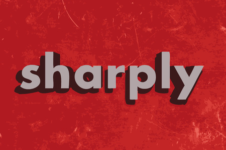 sharply: sharply vector word on red concrete wall Illustration