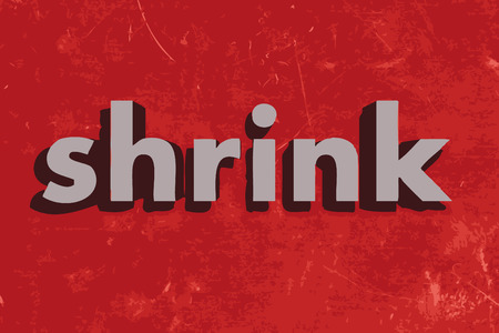 shrink: shrink vector word on red concrete wall
