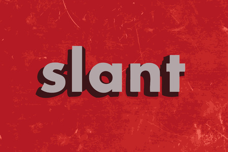 slant: slant vector word on red concrete wall
