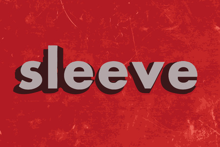 sleeve: sleeve vector word on red concrete wall Illustration