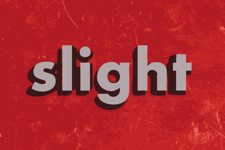 slight: slight vector word on red concrete wall