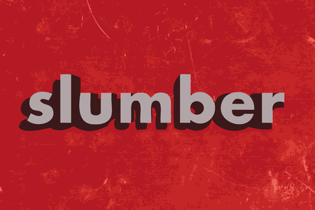 slumber: slumber vector word on red concrete wall