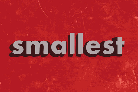 smallest: smallest vector word on red concrete wall
