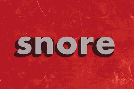 snore: snore vector word on red concrete wall