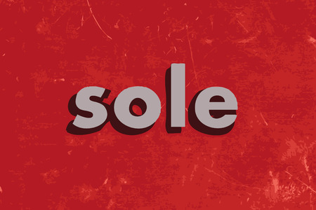 sole: sole vector word on red concrete wall