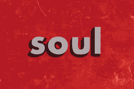 the soul: soul vector word on red concrete wall