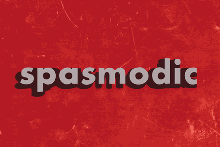 spasmodic: spasmodic vector word on red concrete wall