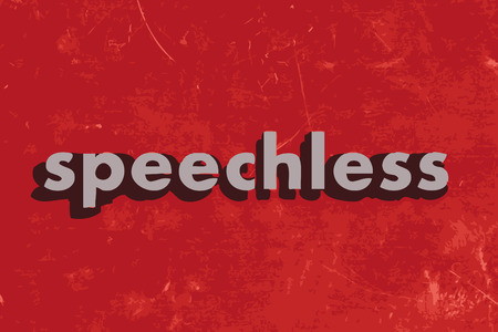 speechless: speechless vector word on red concrete wall Illustration