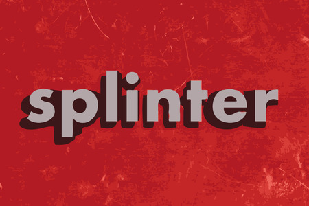 splinter vector word on red concrete wall
