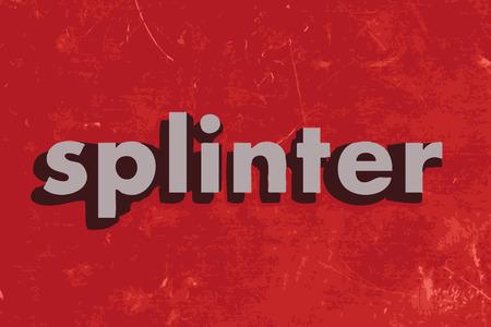 splinter: splinter vector word on red concrete wall Illustration