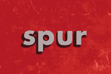 spur: spur vector word on red concrete wall Illustration