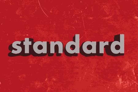 standard vector word on red concrete wall Ilustração
