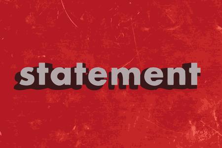 ifade: kırmızı beton duvara açıklamada vektör kelime