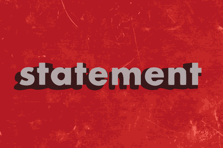 statement: statement vector word on red concrete wall