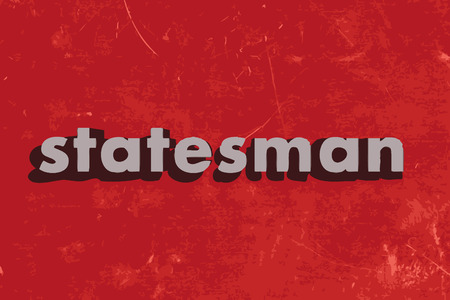 statesman: statesman vector word on red concrete wall Illustration