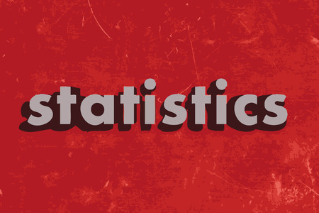 data dictionary: statistics vector word on red concrete wall Illustration