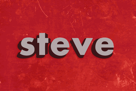 steve: steve vector word on red concrete wall