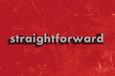straightforward: straightforward vector word on red concrete wall Illustration