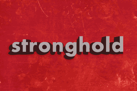 stronghold: stronghold vector word on red concrete wall