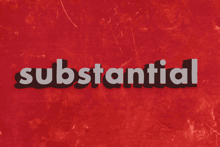 substantial: substantial vector word on red concrete wall