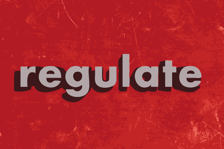 regulate: regulate vector word on red concrete wall