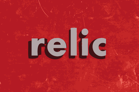 relic vector word on red concrete wall