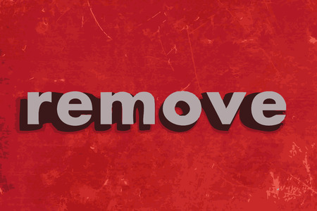 remove vector word on red concrete wall Illustration