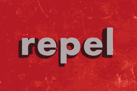 repel: repel vector word on red concrete wall