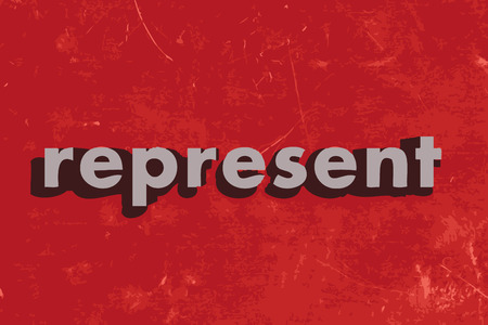 represent: represent vector word on red concrete wall Illustration