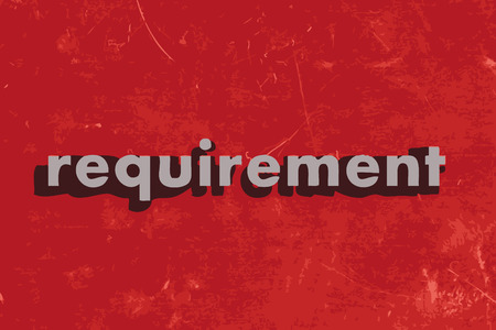 requirement vector word on red concrete wall Illustration