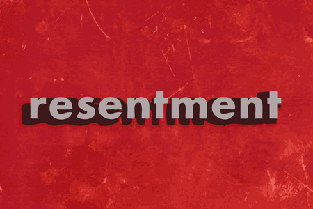 resentment: resentment vector word on red concrete wall Illustration