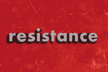 resistance: resistance vector word on red concrete wall