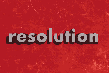 resolution: resolution vector word on red concrete wall