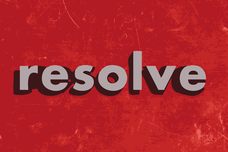 resolve: resolve vector word on red concrete wall