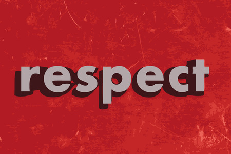 respect: respect vector word on red concrete wall Illustration