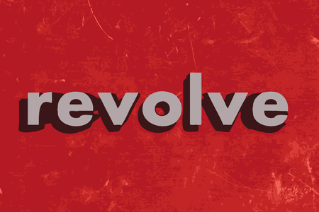 revolve: revolve vector word on red concrete wall Illustration