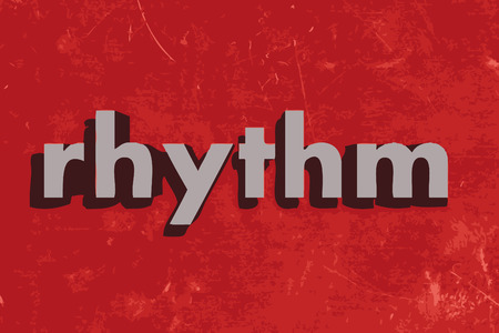rhythm: rhythm vector word on red concrete wall Illustration
