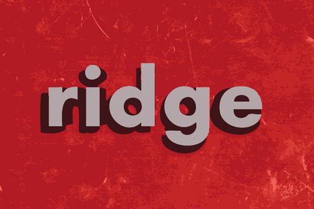 ridge: ridge vector word on red concrete wall