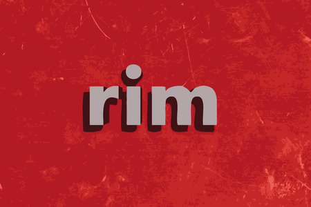 rim: rim vector word on red concrete wall