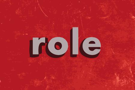 rol vector woord over de rode betonnen muur