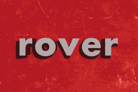 rover: rover vector word on red concrete wall