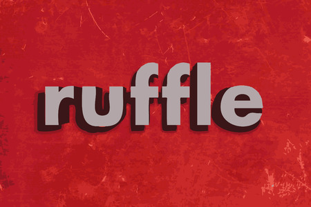 ruffle: ruffle vector word on red concrete wall Illustration