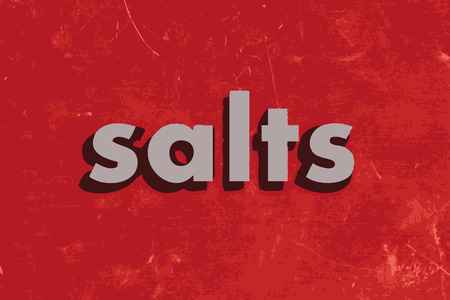 salts: salts vector word on red concrete wall Illustration